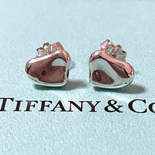Tiffany & Co. - ティファニー フルハート カーブドハート ピアス スターリングシルバー925