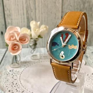 ピエールラニエ(Pierre Lannier)の【電池交換済】Pierre Lannier ピエールラニエ 腕時計 数字 ブルー(腕時計)