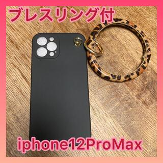 iphoneケース アニマル ブレスリングホルダー 黒ブラック 送料無料(iPhoneケース)