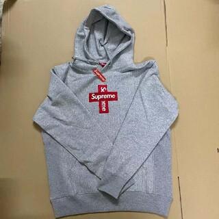Supreme - Supreme cross box logo hoodedシュプリーム グレー