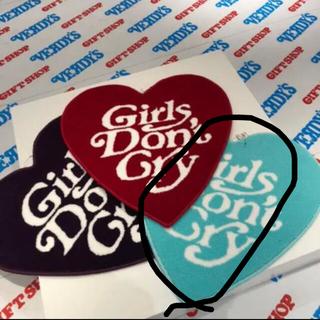 Girls Don't Cry ハートラグ ターコイズブルー ハートクッション(ラグ)