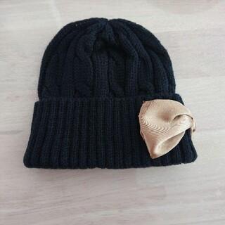 ブランシェス(Branshes)の新品未使用☆ブランシェス ベビーニット帽 リボン (帽子)