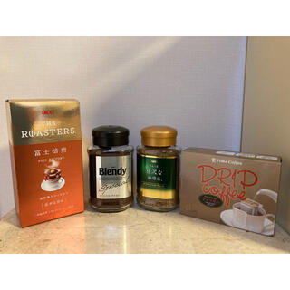 エイージーエフ(AGF)のインスタントコーヒー2本+ドリップコーヒー10杯分(コーヒー)