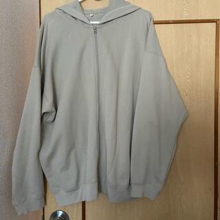 ムジルシリョウヒン(MUJI (無印良品))のムジラボ 綿裏毛ジップアップパーカー アイボリー(パーカー)