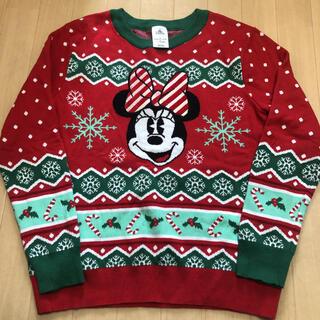 ディズニー(Disney)のディズニー ニット 2L ミニー クリスマス(ニット/セーター)
