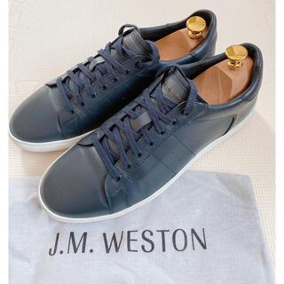 J.M. WESTON - 【美品】J.M.WESTON スニーカー サイズ7 ネイビー