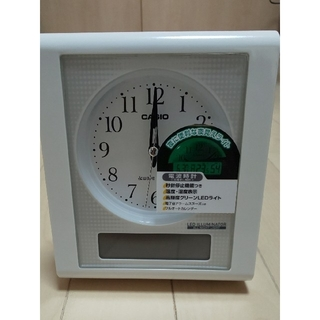 ☆未使用☆  CASIO  電波置時計(目覚まし機能付)