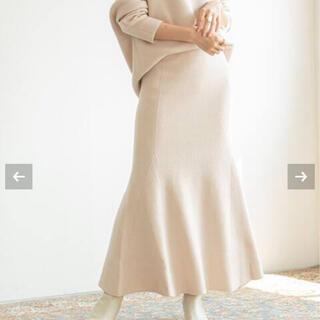 ノーブル(Noble)のnoble ファインメリノニットマーメイドスカート(ロングスカート)