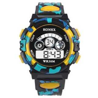 日本語説明付き☆新品送料込みHONHX 迷彩 キッズ子供用アウトドア腕時計(腕時計(デジタル))