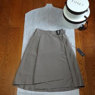 """フォクシー(FOXEY)のFOXEY Skirt """"Side Buckle"""" エスプレッソ 38(ひざ丈スカート)"""