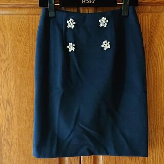 プロポーションボディドレッシング(PROPORTION BODY DRESSING)の新品未使用⭐️プロポーション ビジュー付きタイトスカート(ひざ丈スカート)