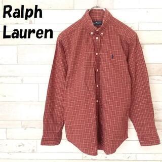 ラルフローレン(Ralph Lauren)のラルフローレン ワンポイント刺繍ロゴチェック柄ボタンダウンシャツ 150 キッズ(ブラウス)