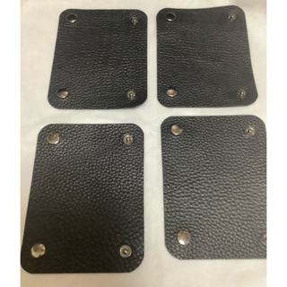 TUMI用 本革ハンドルカバー ブラック 二つセット×2つ(ビジネスバッグ)