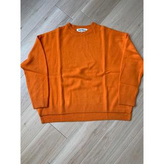 ENFOLD - ENFOLD オーバーサイズニット オレンジ38