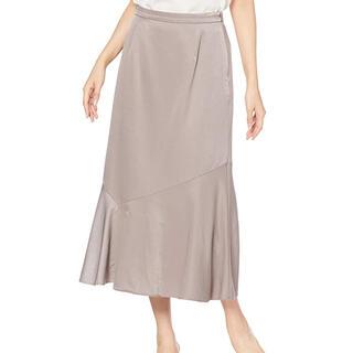 NATURAL BEAUTY BASIC - サテン マーメイドスカート