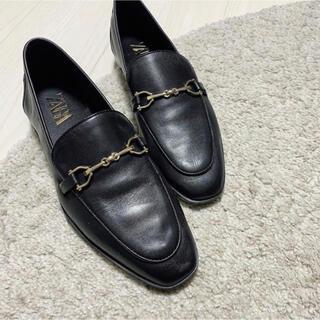 ザラ(ZARA)のZARA ビット レザーローファー モカシン(ローファー/革靴)