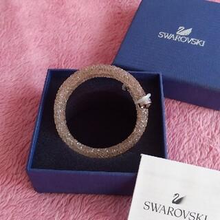 スワロフスキー(SWAROVSKI)のSWAROVSKIのピンクの2連のcrystalbangleです。(ブレスレット/バングル)