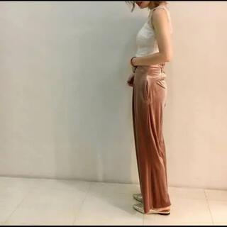 snidel - ♡Snidel♡ワイドパンツ ガウチョパンツ ベロア ピンク ベージュ