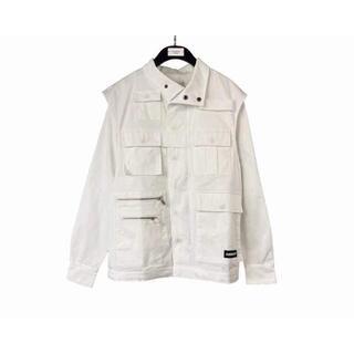 AMBUSH 20FW  ホワイト ジャケット(ノーカラージャケット)