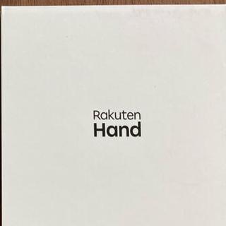 ラクテン(Rakuten)のRakuten Hand 楽天ハンド ブラック 本体&クリアケース(スマートフォン本体)