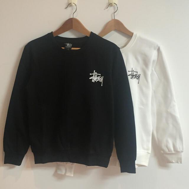 STUSSY(ステューシー)のサイズXL定番黒白二枚セット ステューシー stussy スウェット レディースのトップス(トレーナー/スウェット)の商品写真