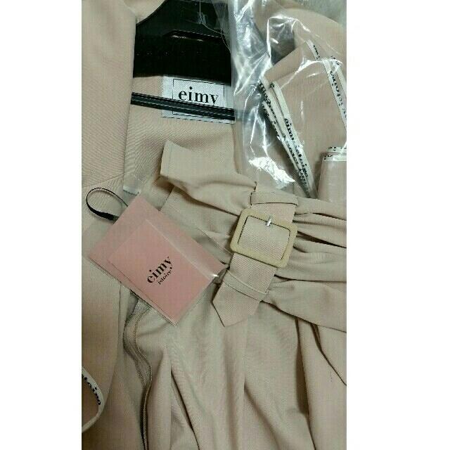 eimy istoire(エイミーイストワール)の新品 パイピングボリュームフレアコート レディースのジャケット/アウター(ロングコート)の商品写真