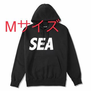 M WIND AND SEA HOODIE BLACK-WHITE SEA-03