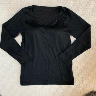 シマムラ(しまむら)のFIBER HEAT★裏起毛カップ付きインナー【美品】(Tシャツ(長袖/七分))