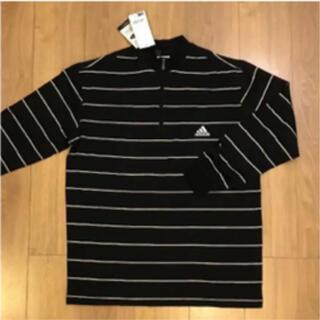 アディダス(adidas)のアディダスゴルフadidasgolfメンズ黒長袖ポロシャツLサイズ新品未使用(ウエア)