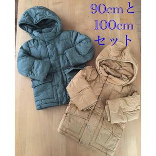 ユニクロ(UNIQLO)のUNIQLO  中綿アウター 90cmと100cmセット(ジャケット/上着)