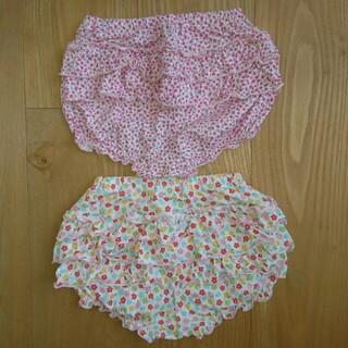 ミキハウス(mikihouse)のMIKI HOUSE(ミキハウス) 花柄 オーバーパンツ 2枚組 70~90㎝(パンツ)