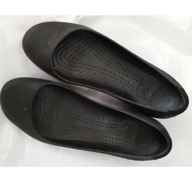 crocs(クロックス)のクロックス黒パンプス レディースの靴/シューズ(ハイヒール/パンプス)の商品写真