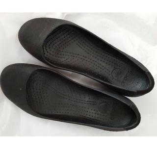 crocs - クロックス黒パンプス