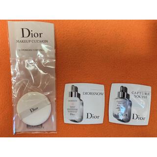 Dior - Dior メイクアップスポンジ、美容液(サンプル)セット