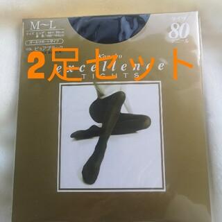 カネボウ(Kanebo)のカネボウ エクセレンス タイツ 80デニール M~L ピュアブラック 2足(タイツ/ストッキング)
