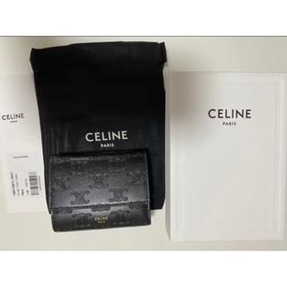 celine - CELINE 財布 スモール トリフォールドウォレット 三つ折り トリオンフ