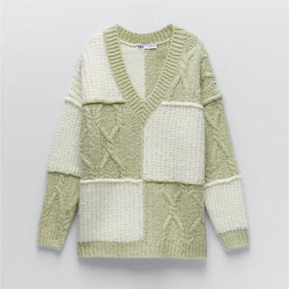ZARA - 【ZARA】パッチワーク ニットセーター