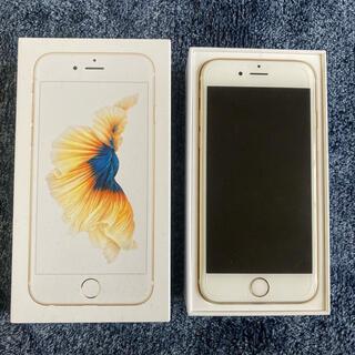 アイフォーン(iPhone)の【美品】iPhone 6s Gold 64 GB simフリー(スマートフォン本体)