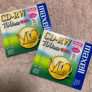 マクセル(maxell)のmaxell マクセル CD‐RW 700MB MQディスク 2枚セット まとめ(その他)