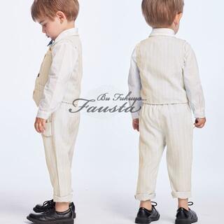 フォーマルスーツ ベビースーツ 2点セット 長袖 赤ちゃん 男の子 90(セレモニードレス/スーツ)