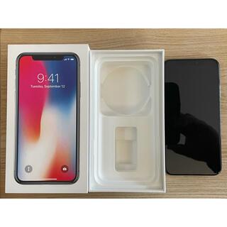 アイフォーン(iPhone)のiPhoneⅩ  64G スペースグレイ SIMロック解除済(スマートフォン本体)