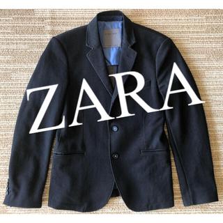 ザラ(ZARA)の【ZARA】メンズ テーラードジャケット 紺色 厚地 サイズM(テーラードジャケット)