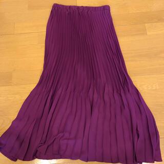 ザラ(ZARA)のZARA 新品未使用タグ付き シフォンプリーツスカート(ロングスカート)