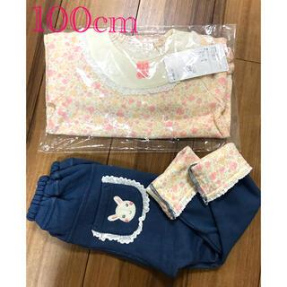 クーラクール(coeur a coeur)の新品未使用♡クーラクール♡冬物小花柄セットアップ 100cm(Tシャツ/カットソー)