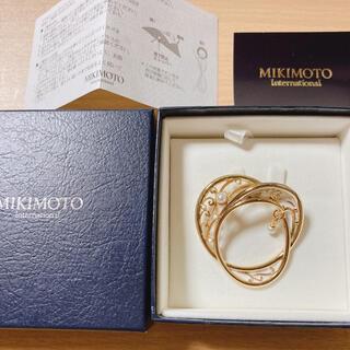 MIKIMOTO - ミキモト グラスホルダー パール ブローチ 真珠