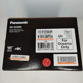 Panasonic - 【新品】Panasonic Lumix DMC-G100K