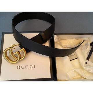 Gucci - ★Gucci★GGバックル レザーベルト4cm幅