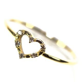アーカー(AHKAH)のアーカー ハート K18YG ダイヤモンドリング(リング(指輪))