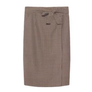 エスカーダ(ESCADA)のESCADA ひざ丈 チェック スカート(ひざ丈スカート)
