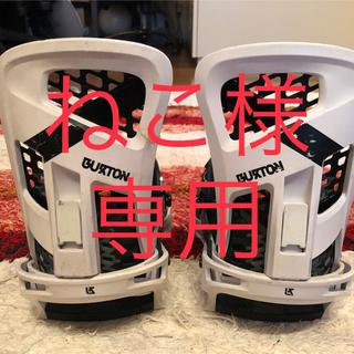 バートン(BURTON)のBURTON GENESIS バインディングRe:Flex 白 ハイバック補修有(バインディング)